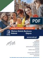 Informator 2013 - Studia I Stopnia - Wyższa Szkoła Bankowa w Gdańsku