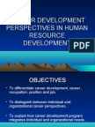 Hrd Perspectives Towards Career Development