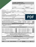 Camp Whitehall Cementon Resident Registration