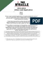Committee Lead App 2013-2014