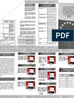Elecciones Presidenciales 2013 Cuatro Paneles