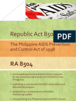 Report RA 8504 New AIDS Law