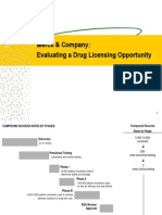 Merck & Company - Evaluating a Drug Licensing Opportunity - Pgp 2012