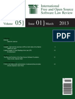 ifosslr-v5i1 Internation FOSS law review