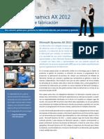 Microsoft Dynamics AX 2012 para Fabricación
