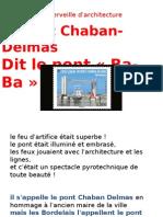 Le Pont Chaban-Delmas Dit Le Pont Ba-ba