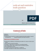 2.Sale of Goods Act and Restrictive Trade Practices