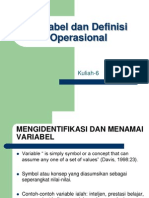 Variabel dan Definisi Operasional