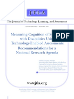 Mesuring Cognition Disabilities