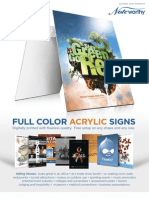 Acrylic Posters & Signs Flyer