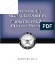 U.S Department of Defense Strategic Guidance 2012