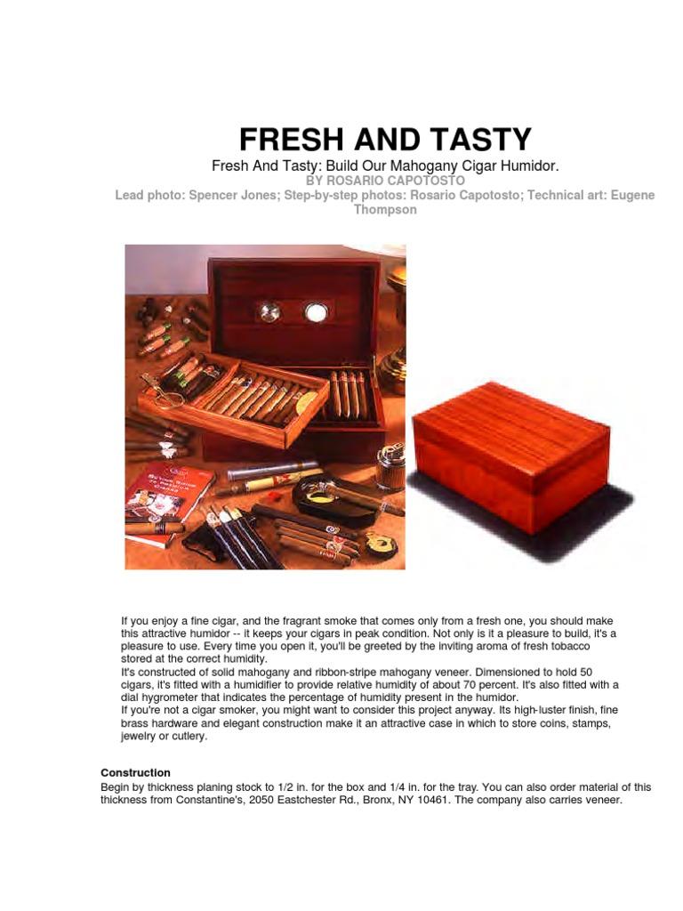 Build-Your-Own-Humidor.pdf | Wood Veneer | Plywood