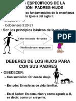 TEXTOS ESPECIFICOS DE LA RELACIÓN  PADRES-HIJOS
