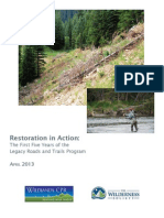 Legacy Roads and Trails Report, 2013