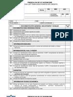 Check List Solicitante de Credito