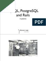 MySQL, Postgres, and Rails