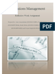 Operations Management - EDC Plant Location Puzzle