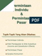 permintaan individu dan permintaan pasar