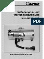 Installation UndWartungsanweisungArdic20912 952DE