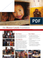 The Bhutan Canada Foundation Organizational Booklet