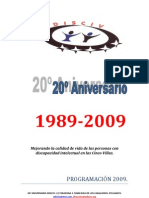 Programación 20 Aniversario de Adisciv
