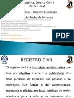 4 AULA 4 - DIREITO CIVIL I - PARTE GERAL - PESSOA NATURAL - Registro & Extinção