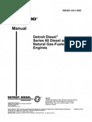 Manual+Detroit+Serie+60 | Internal Combustion Engine | Diesel Engine