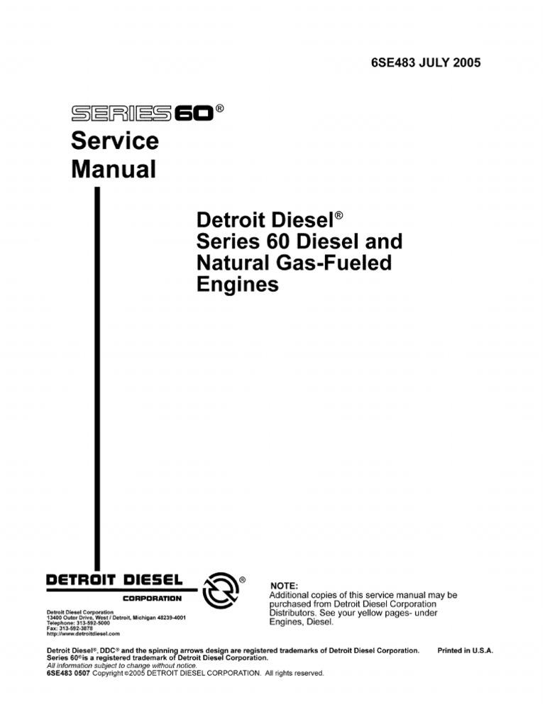 Manual+Detroit+Serie+60 | Internal Combustion Engine