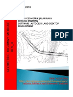 Desain Geometrik Jalan Dengan Bantuan Software Land Desktop Development 1