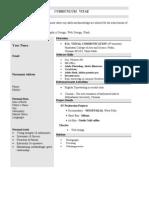 Fresher Web Designer Resume 1