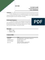 Fresher Dotnet Resume 3
