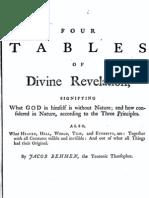 395526 Jacob Bohme Vol 3 II Four Tables of Divine Revelation