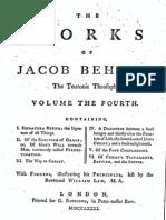 395534 Jacob Bohme Vol 4 I Signatura Rerum
