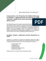 "Convocatoria a los Proyectos de Colaboración para la Difusión e Implementación del Informe de GIRE ""Omisión e Indiferencia"