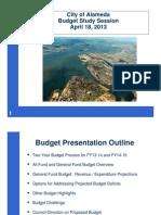 City of Alameda April 18, 2013 Budget Study Session Presentation