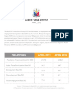 April 2012 Labor Force Survey