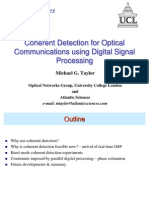 Coherent Detection for Optical Communications Using Digital Signal Processing