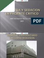 Analgesia y Sedacion en Paciente Pediatrico Critico