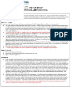 A&F Pump Piston Pump Installation Manual