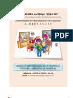 Mod X- Unidad i - Didactica General