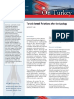Turkish-Israeli Relations after the Apology
