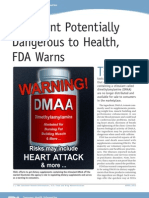 FDA Warning on DMAA