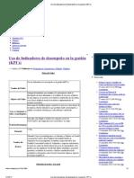 Uso de Indicadores de de...o en la gestión _(KPI´s_)