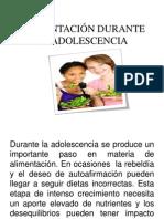 ALIMENTACIÓN DURANTE LA ADOLESCENCIA