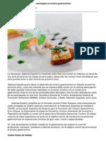 Saborea Espana Presenta Sus Estrategias en Turismo Gastronomico
