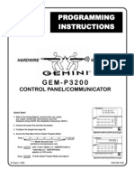 Napco Gem-p3200 Programing Instructions