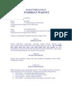 Surat Perjanjian Pendirian Warnet