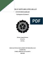 Tugas Kewarganegaraan - Otonomi Daerah Kabupaten Kebumen