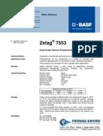 Chemicals Zetag DATA Beads Zetag 7553 - 0410