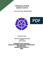 Tugas Pengolahan Basic Data - Instalasi SQL Server